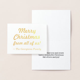 """Merry Christmas from all of us!"" Card"