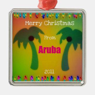 Merry Christmas from Aruba  2011 Metal Ornament