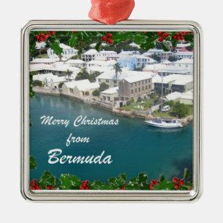 Merry Christmas from Bermuda Metal Ornament