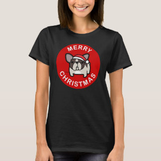 Merry Christmas from Brindle Pied Santa - Red T-Shirt
