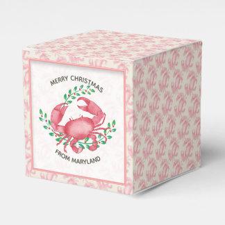 Merry Christmas from Maryland Christmas Crab Favor Box