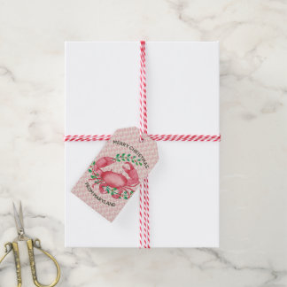 Merry Christmas from Maryland Christmas Crab Gift Tags