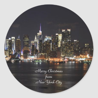 Merry Christmas from New York City Round Sticker