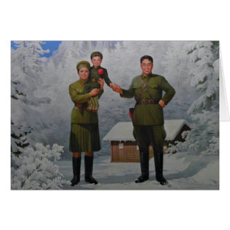 Merry Christmas From North Korea Card