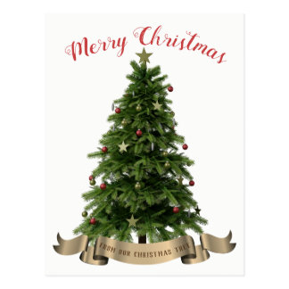Merry Christmas  from our Christmas Tree Postcard