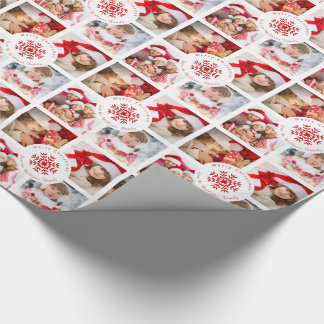 Merry Christmas from Our Family Photo Template Wrapping Paper
