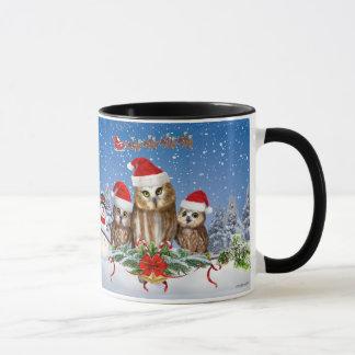 MERRY CHRISTMAS FROM OWL OF US! MUG