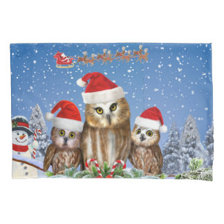 MERRY CHRISTMAS FROM OWL OF US! PILLOWCASE