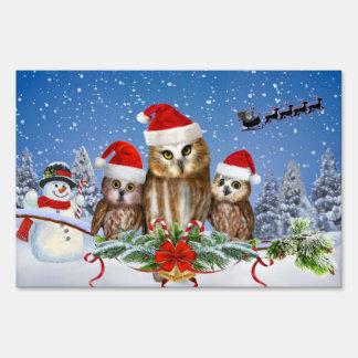 MERRY CHRISTMAS FROM OWL OF US! SIGN