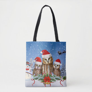MERRY CHRISTMAS FROM OWL OF US! TOTE BAG