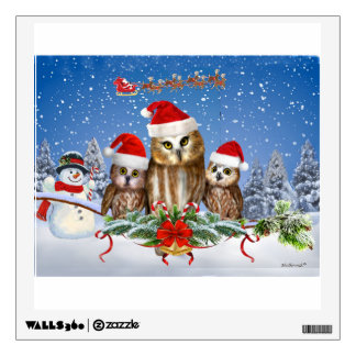 MERRY CHRISTMAS FROM OWL OF US! WALL STICKER