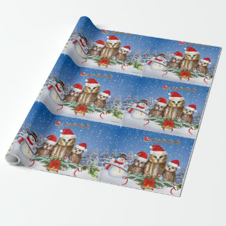 MERRY CHRISTMAS FROM OWL OF US! WRAPPING PAPER