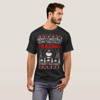 Merry Christmas From Policeman Ugly Sweater Tshirt
