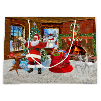 Merry Christmas from Santa Large Gift Bag