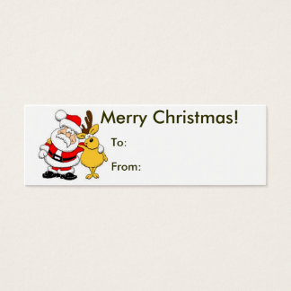 Merry Christmas From Santa Tag