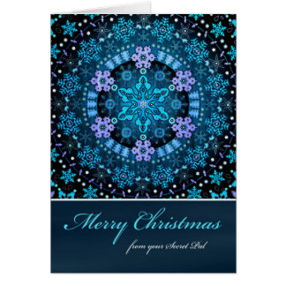Merry Christmas from Secret Pal, Boho Snowflakes Greeting Card
