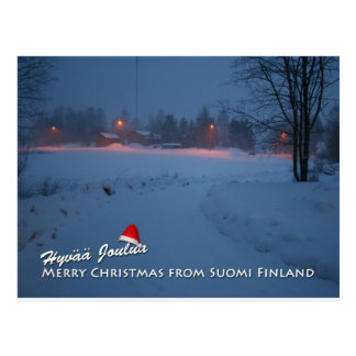 Merry Christmas from Suomi Finland Postcard