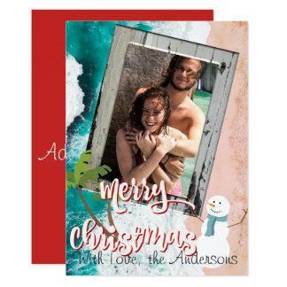 Merry Christmas From the Beach Christmas Card