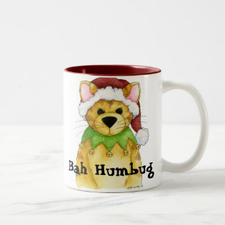 Merry Christmas from the Cat Bah Humbug Mug