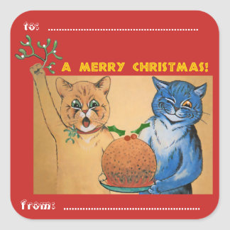 Merry Christmas from the Cats #holidayz Square Sticker