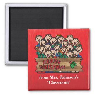 Merry Christmas from the Classroom Square Magnet