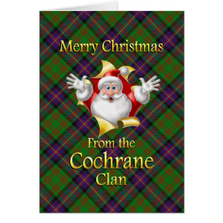 Merry Christmas From the Cochrane Clan Greeting Card
