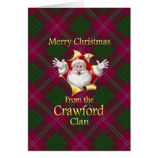 Merry Christmas From the Crawford Clan Card