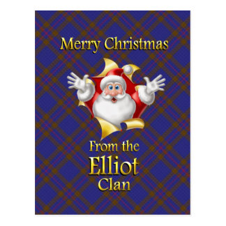 Merry Christmas From the Elliot Clan Postcard