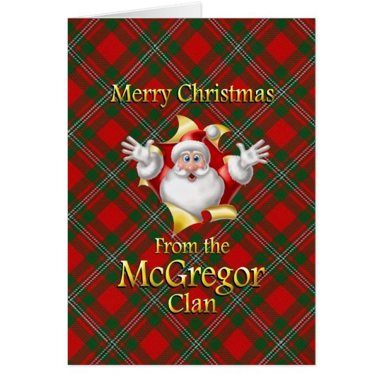 Merry Christmas From the McGregor Clan Card
