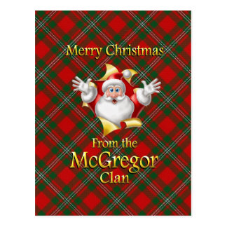 Merry Christmas From the McGregor Clan Postcard