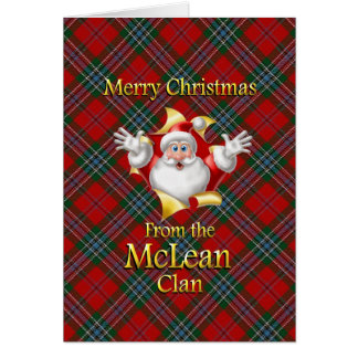 Merry Christmas From the McLean Clan Card