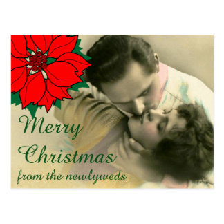 Merry Christmas from the Newlyweds Postcard