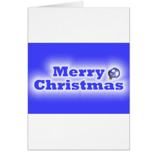 Merry Christmas Frosted - Blue Card