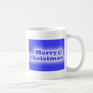 Merry Christmas Frosted - Blue Mugs