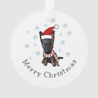 Merry Christmas German Sheperd Ornament