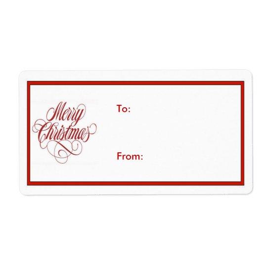 Merry Christmas! Gift Tag