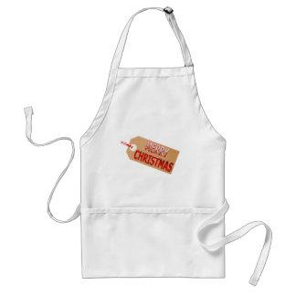 Merry Christmas Gift Tag Kitchen Apron