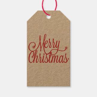 Merry Christmas gift tag (kraft)