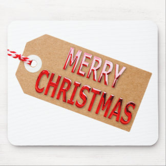 Merry Christmas Gift Tag Mouse Pad