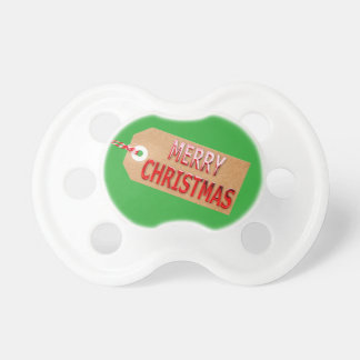 Merry Christmas Gift Tag Pacifier