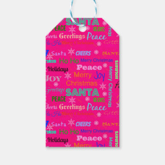 Merry Christmas Gift Tag Pack Of Gift Tags