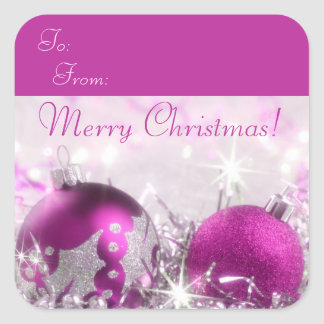 Merry Christmas Gift Tag Sticker