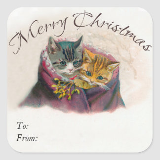 Merry Christmas Gift Tags - Cute Kittens