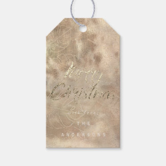 Merry Christmas Gift To Gold Monstera Ivory Burlap Gift Tags