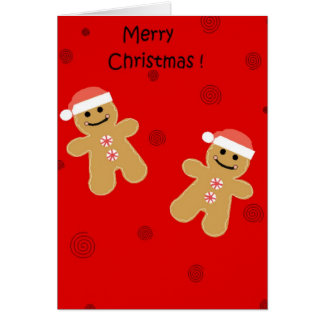 Merry Christmas Gingerbread Card