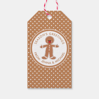 Merry Christmas | Gingerbread Man Gift Tags