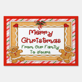 Merry Christmas Gingerbread Sign