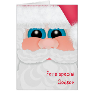 Merry Christmas Godson Fun Santa Card