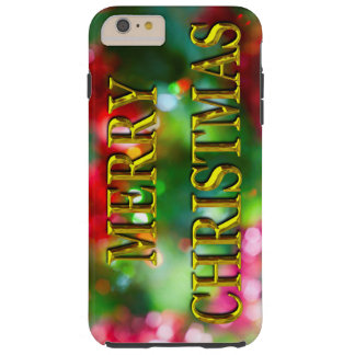 Merry Christmas Gold Bokeh iPhone 6/6s Plus Case
