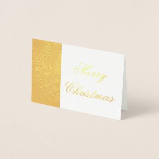 Merry Christmas Gold Foil Elegant Typography Foil Card